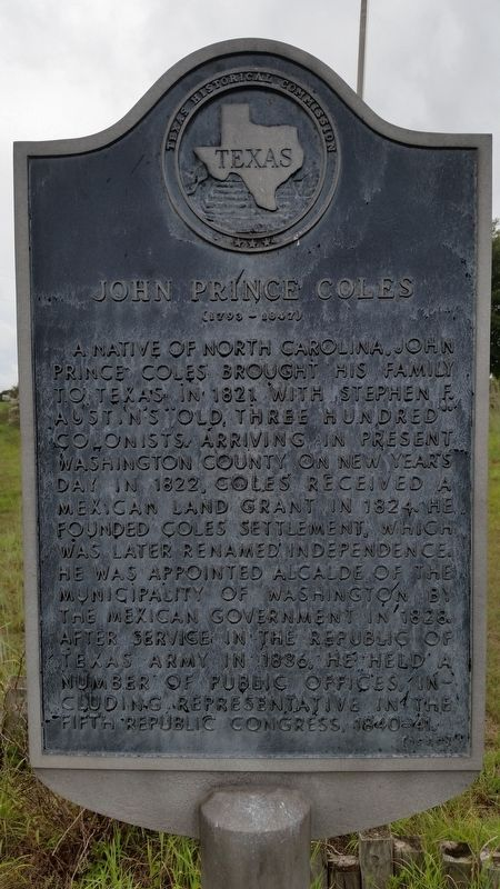 John Prince Coles Marker image. Click for full size.