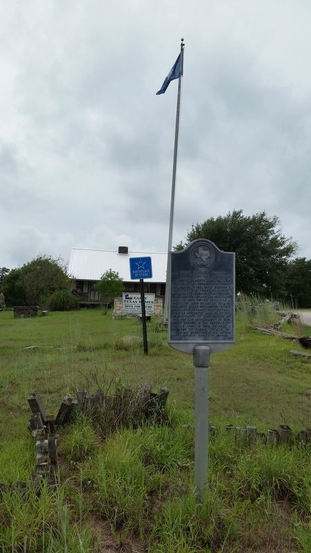 John Prince Coles Cabin and Marker. image. Click for full size.