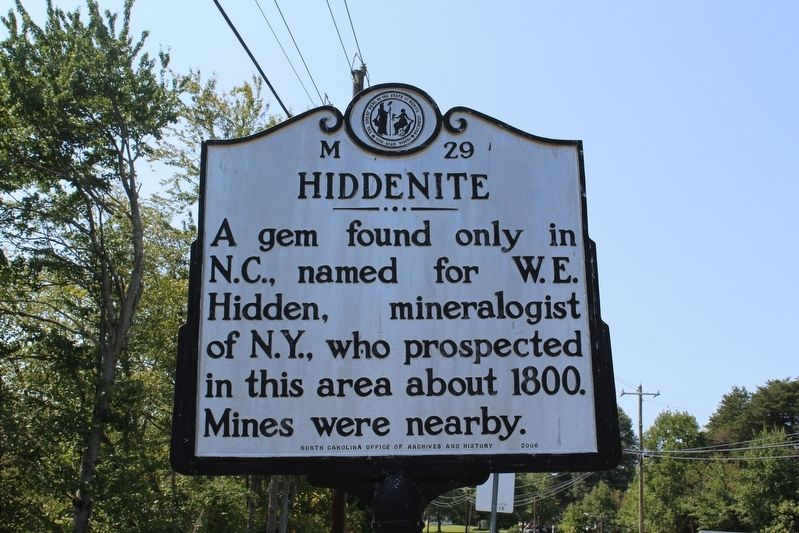 Hiddenite Marker image. Click for full size.