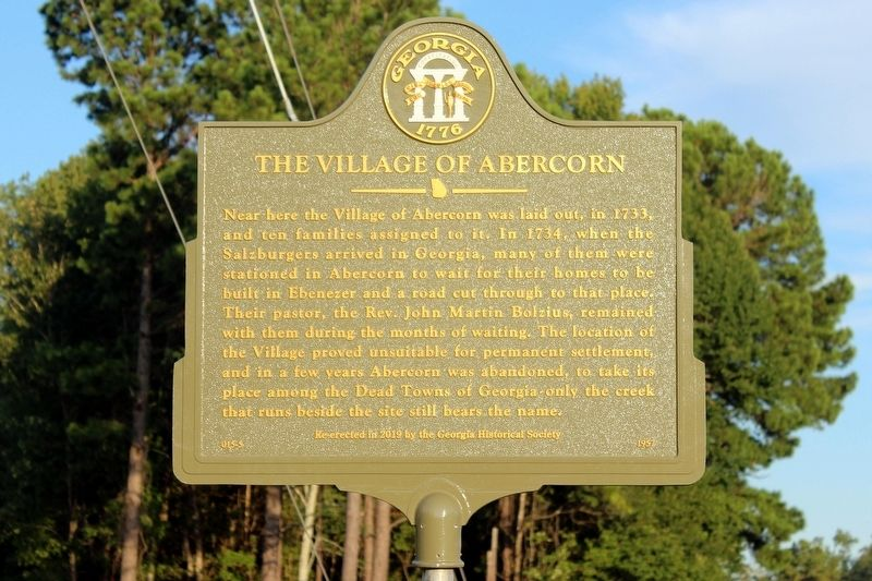 The Village of Abercorn Marker image. Click for full size.