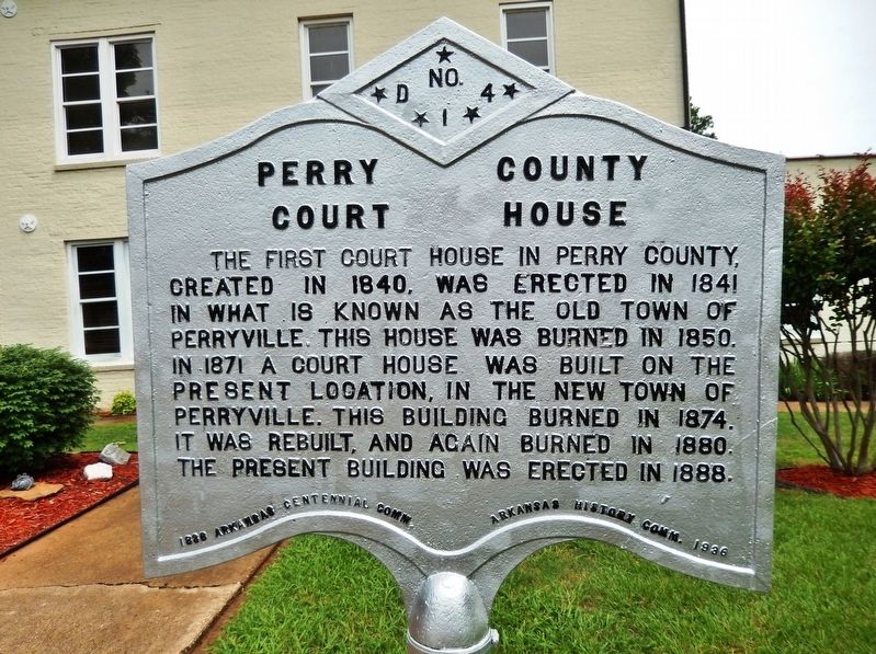 Perry County Court House Marker image. Click for full size.
