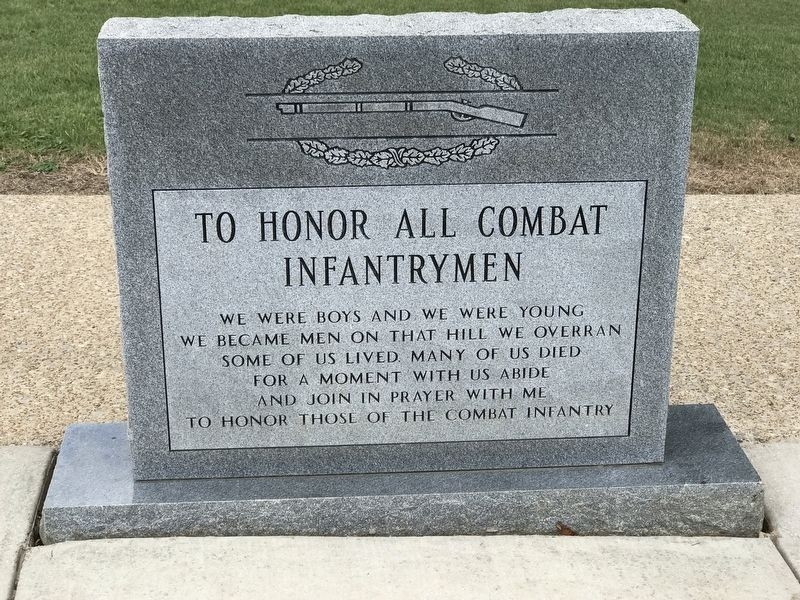 Alabama Combat Infantrymen Monument (Front) image. Click for full size.