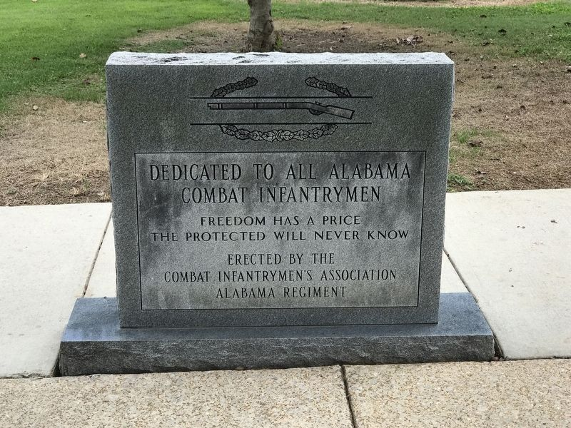 Alabama Combat Infantrymen Monument (Back) image. Click for full size.