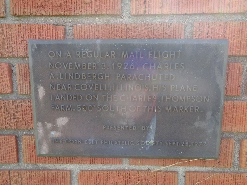 Charles Lindbergh Crash Site Marker image. Click for full size.