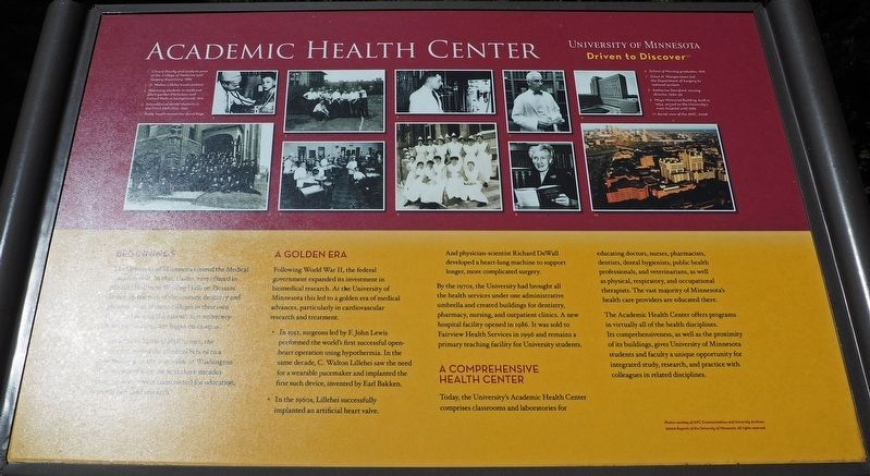 Academic Health Center marker image. Click for full size.