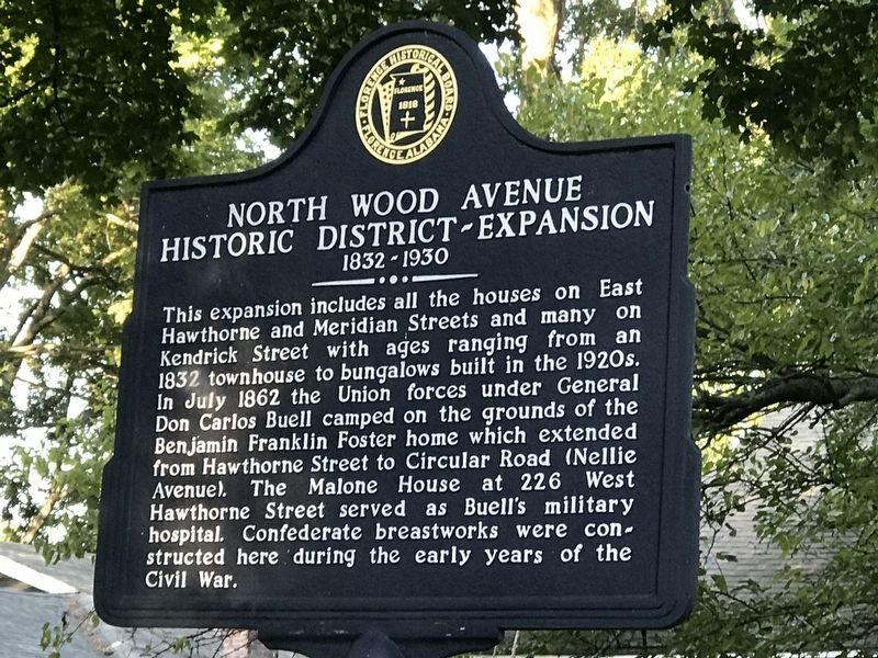 North Wood Avenue Historic District — Expansion Marker image. Click for full size.