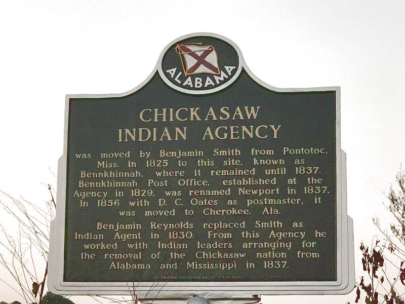 Chickasaw Indian Agency Marker image. Click for full size.