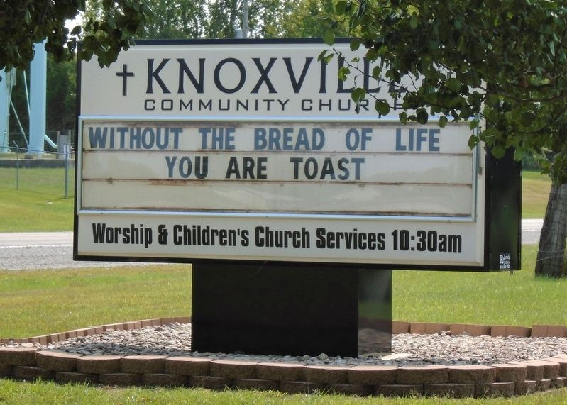 Knoxville Community Church Sign image. Click for full size.