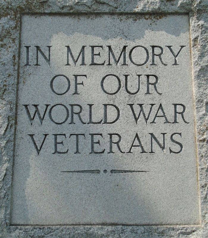 World War Memorial Dedication image. Click for full size.