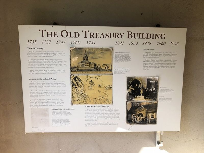 The Old Treasury Building Marker image. Click for full size.