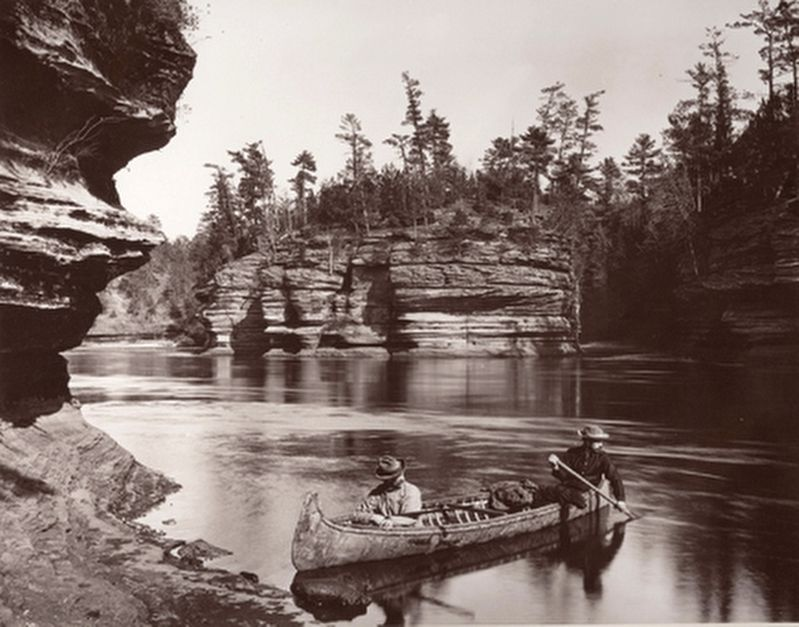 Wisconsin Dells by H.H. Bennett image. Click for full size.