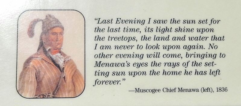 Marker detail: Muscogee Chief Menawa image. Click for full size.