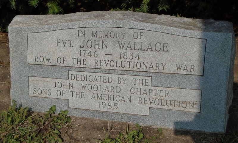 Pvt. John Wallace Marker image. Click for full size.