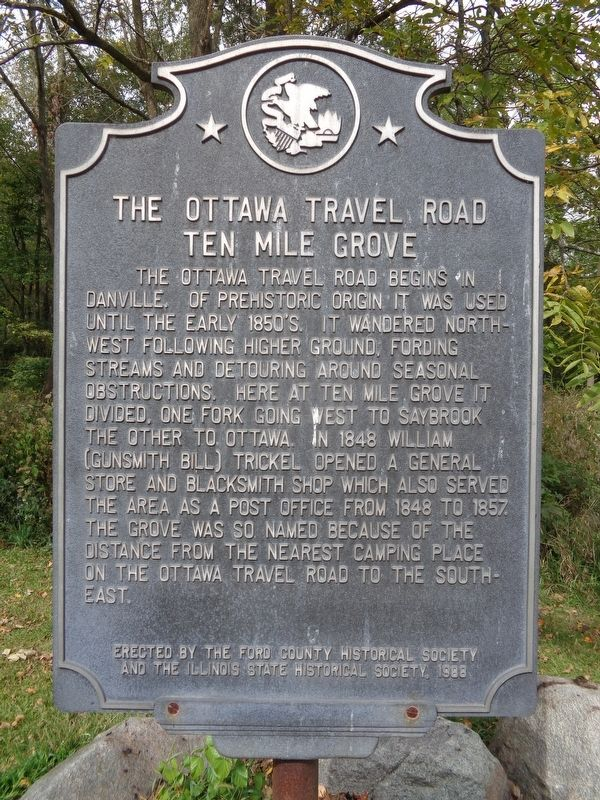 The Ottawa Road - Ten Mile Grove Marker image. Click for full size.