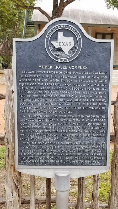 Meyer Hotel Complex Marker image. Click for full size.