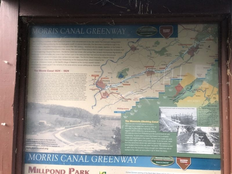 Morris Canal Greenway Marker image. Click for full size.
