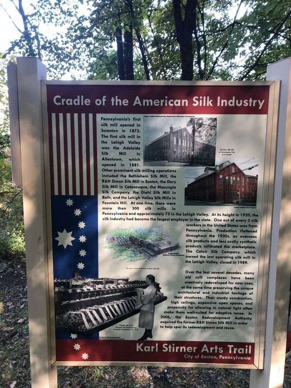 Cradle of the American Silk Industry Marker image. Click for full size.