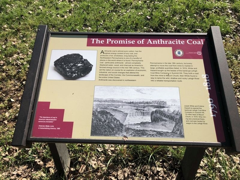 The Promise of Anthracite Coal Marker image. Click for full size.