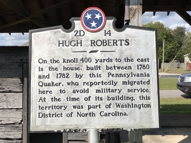Hugh Roberts Marker image. Click for full size.