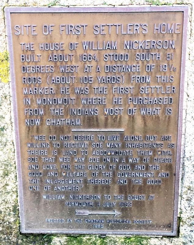 Site Of The First Settlers Home Marker image. Click for full size.