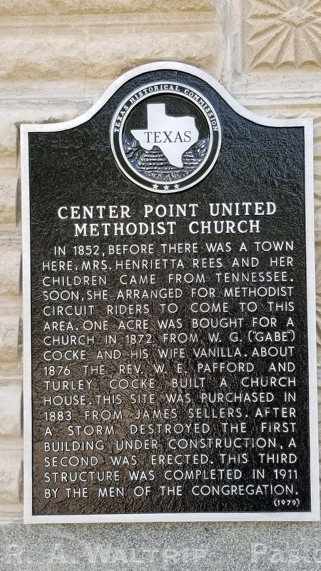 Center Point United Methodist Church Marker image. Click for full size.