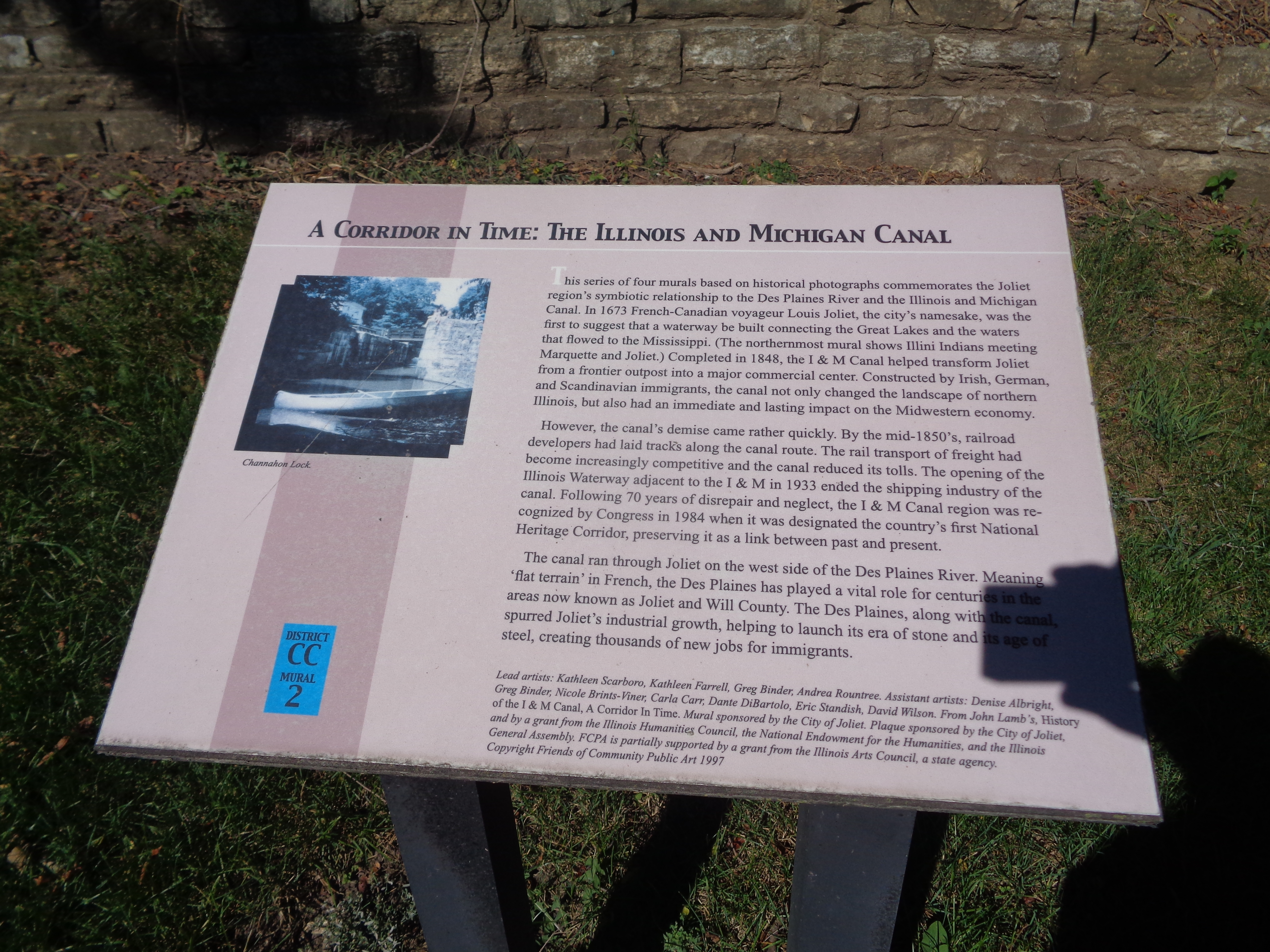 A Corridor in Time: The Illinois and Michigan Canal Marker
