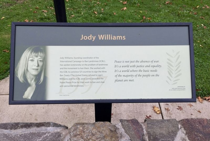 Jody Williams (1997) Marker image. Click for full size.
