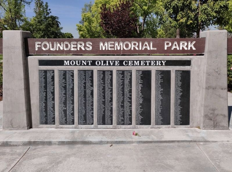 Mount Olive Cemetery Memorial image. Click for full size.