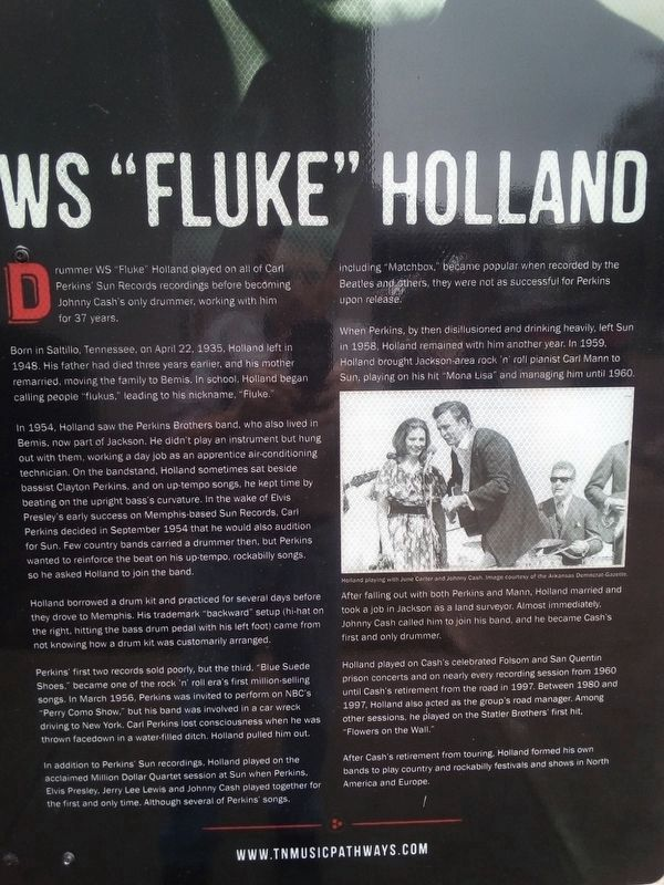 "W.S. ""Fluke"" Holland Marker image. Click for full size."