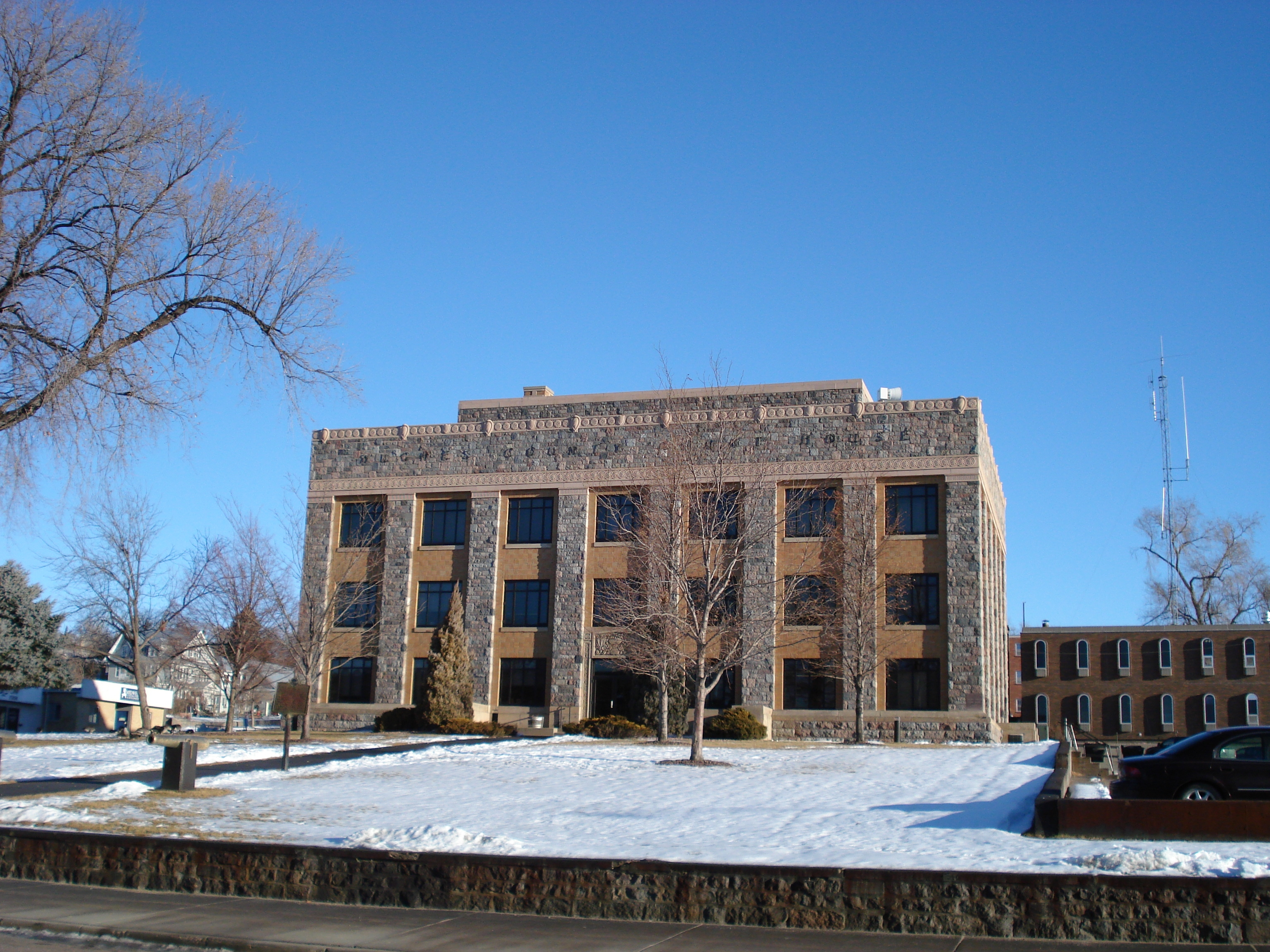 Hughes County Court House Today