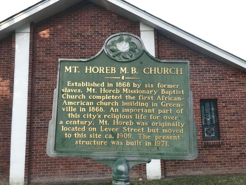 Mt. Horeb M.B. Church Marker image. Click for full size.