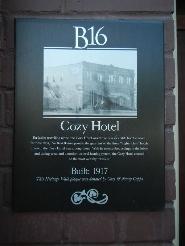 Cozy Hotel Marker image. Click for full size.