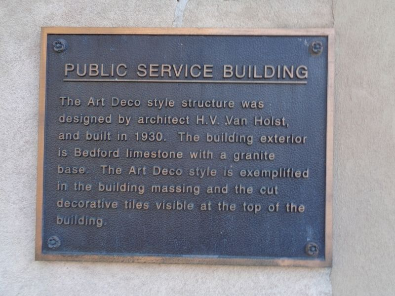 Public Service Building Marker image. Click for full size.