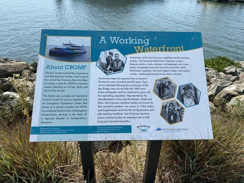 A Working Waterfront Marker image. Click for full size.