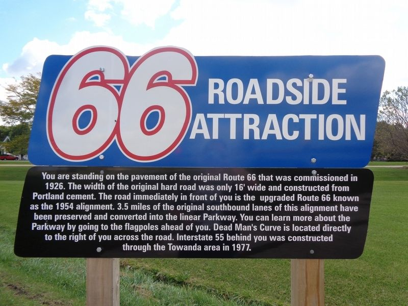 1926 Route 66 Alignment Marker image. Click for full size.