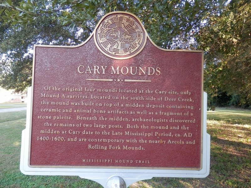 Cary Mounds Marker image. Click for full size.