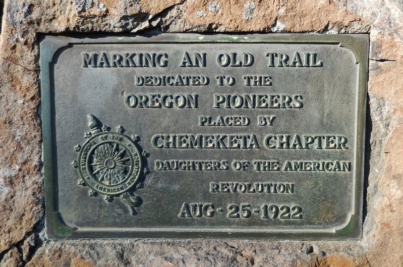 Marking an Old Trail Marker image. Click for full size.
