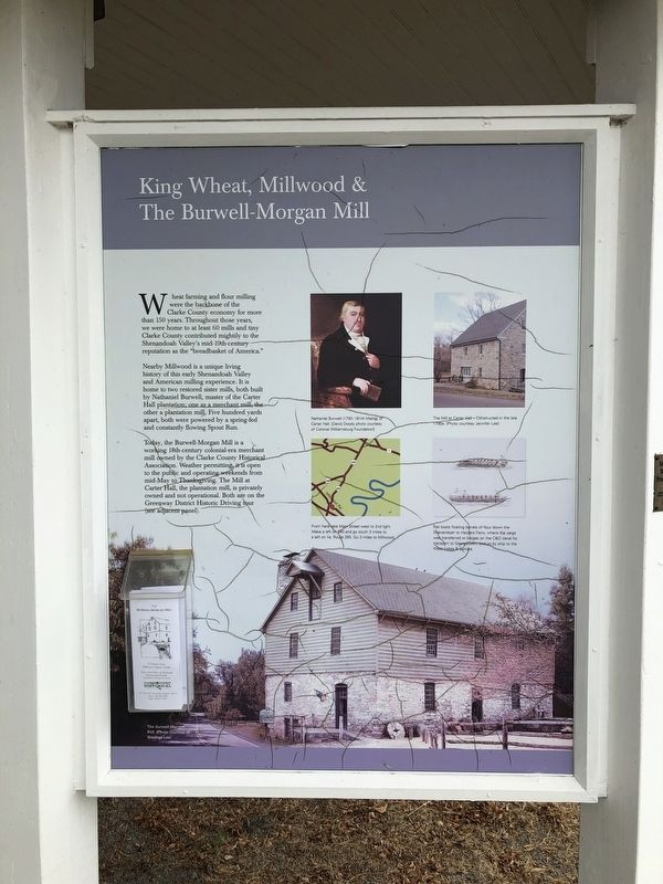 King Wheat, Millwood & The Burwell-Morgan Mill Marker image. Click for full size.