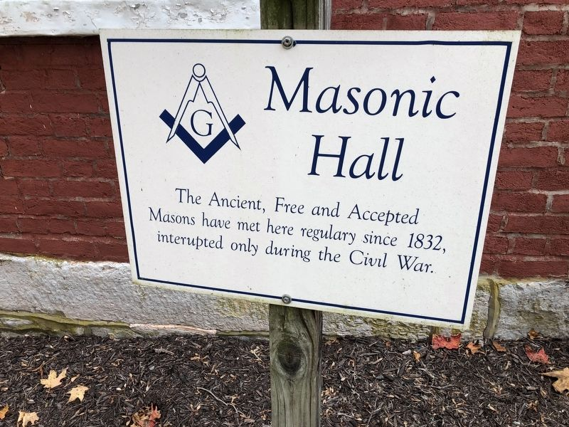 Masonic Hall Marker image. Click for full size.