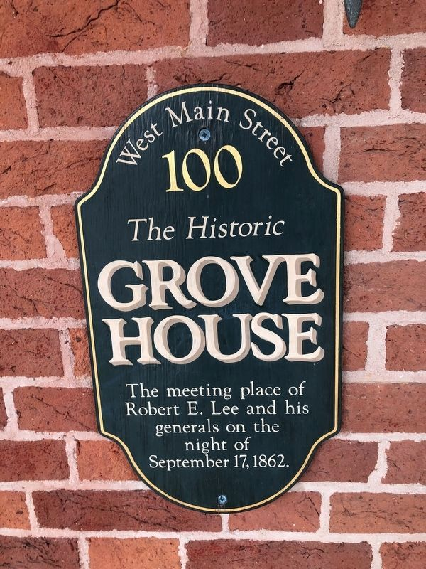 The Historic Grove House Marker image. Click for full size.