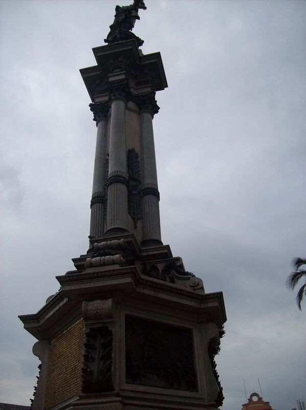 Act of the First Revolutionary Government of Quito Monument image. Click for full size.