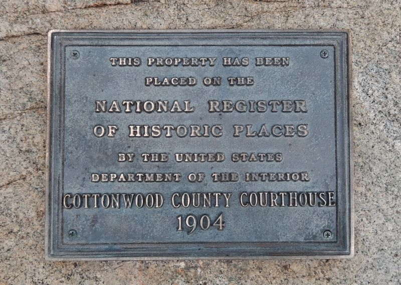 Cottonwood County Courthouse Marker image. Click for full size.