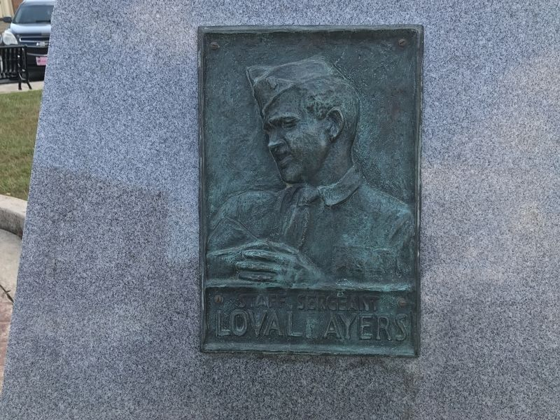Staff Sergeant Loval E. Ayers Marker image. Click for full size.