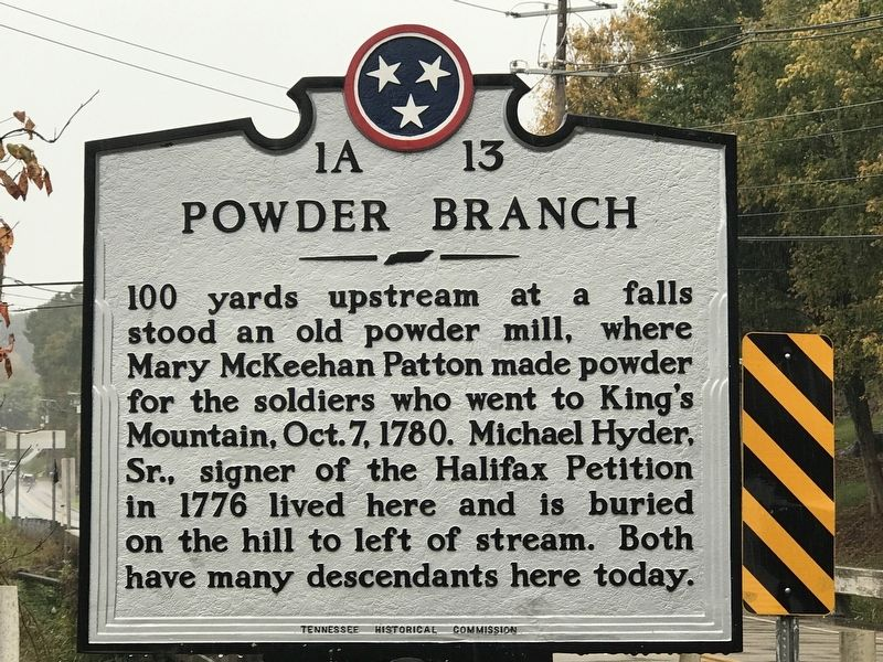 Powder Branch Marker image. Click for full size.