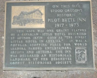 Historic Pilot Butte Inn Marker image. Click for full size.