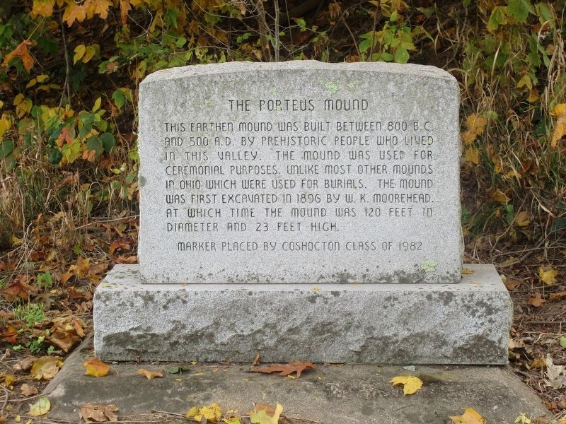 The Porteous Mound Marker image. Click for full size.