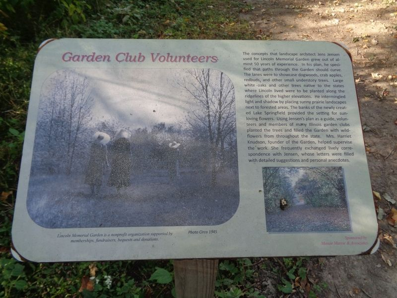 Garden Club Volunteers Marker image. Click for full size.