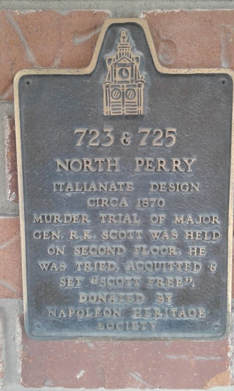723 & 725 North Perry Marker image. Click for full size.