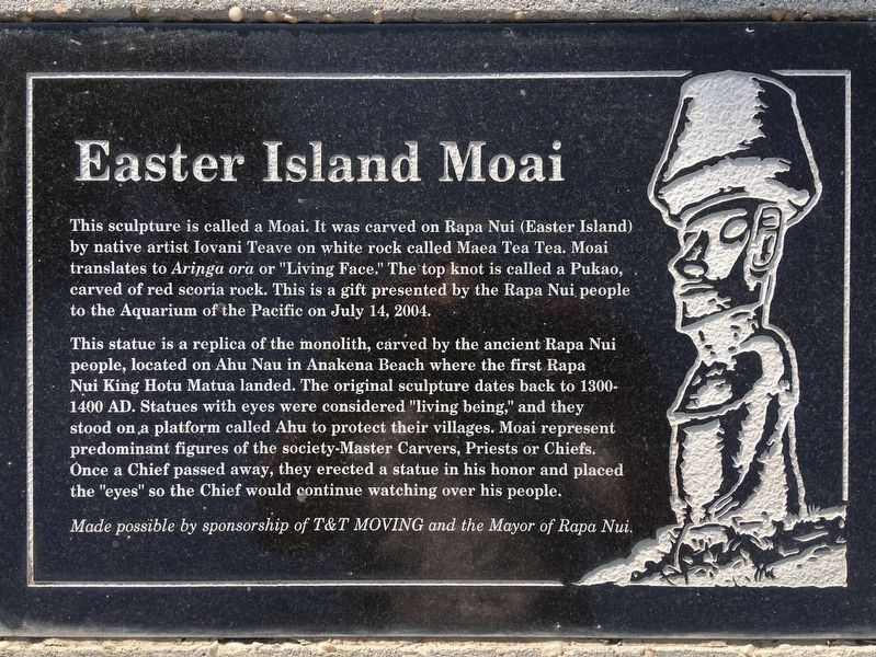 Easter Island Moai Marker image. Click for full size.