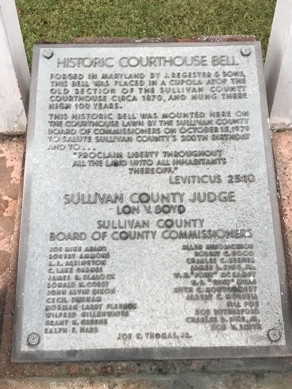 Historic Courthouse Bell Marker image. Click for full size.